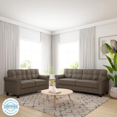 Flipkart Perfect Homes Bibury Fabric 3 + 2 Camel Sofa Set