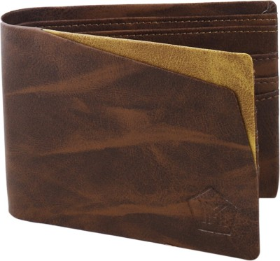 MMShopy Boys Brown Artificial Leather Wallet 6 Card Slots