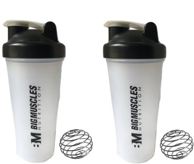 GreenBee My Gym 600 ml Shaker(Pack of 2, Clear)