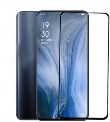 Ultra Clear Edge To Edge Tempered Glass for Oppo reno (6D Tempered Glass)(Full Glue)(Pack of 1)