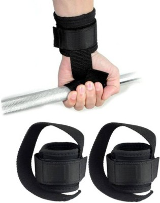 Leosportz weight lifting wrist support with long straps Gym & Fitness Gloves(Black)