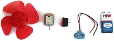 GKG Science Project Kit with Mini 4 Wing Fan, 9V Battery