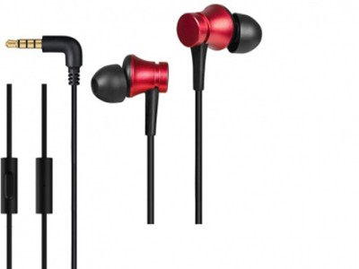 Gadget Phoenix GP-Mi Earphones Basic (with in-built mic) Red Wired Headset with Mic(Red, In the Ear)