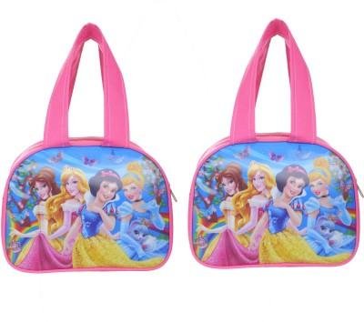 Bright Star Waterproof Printed School Lunch/Tiffin Bag (Pink) Waterproof Lunch Bag(Pink, 8 inch)
