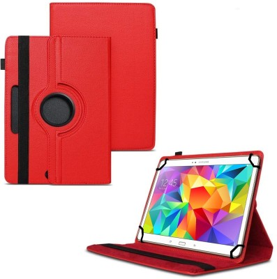 TGK Flip Cover for Samsung Galaxy Tab S 10.5 inch T800, T805, T801 with 360 Degree Rotating Leather Stand Case(Red, Shock Proof)