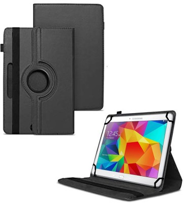 TGK Flip Cover for Samsung Galaxy Tab 4 10.1 Inch (Sm-T530, T531, T535) with 360 Degree Rotating Leather Stand Case(Black, Shock Proof)