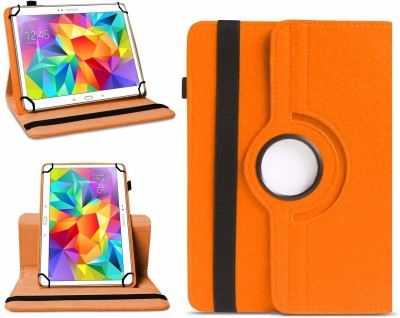 TGK Flip Cover for Samsung Galaxy Tab S 10.5 inch T800, T805, T801 with 360 Degree Rotating Leather Stand Case(Orange, Shock Proof)