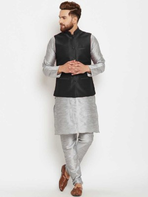 Cafley Men Kurta, Ethnic Jacket and Pyjama Set