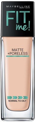 Maybelline New York Fit Me Matte+Poreless Liquid Foundation, 115 Ivory, 30ml Foundation(Black, 30 ml) at flipkart