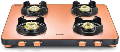 Prestige EDGE Pastel PEPS 04 Glass Manual Gas Stove(4 Burners)