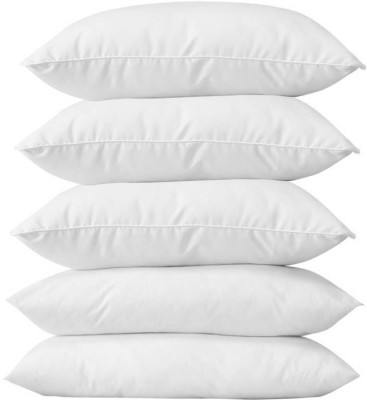 JDX Polyester Fibre Plain Bed/Sleeping Pillow(White)