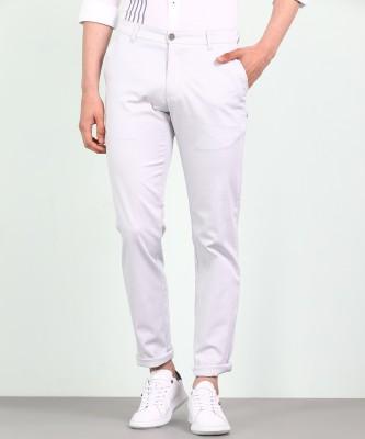 Parx Slim Fit Men Grey Trousers at flipkart