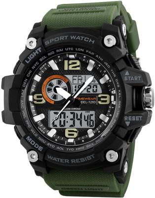 TIMEWEAR 1283GREENTW Timewear Military Series Analogue Digital Black Dial Watch for Men Analog-Digital Watch  - For Men