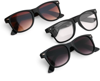 Royal Son Wayfarer Sunglasses(Black, Brown, Clear)