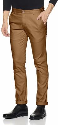 Ben Martin Regular Fit Men Brown Trousers