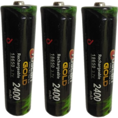 Tuscan 18650 Li-ion 3.7V 2400 mAh Button Top Rechargeable Battery(Pack of 3)