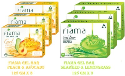FIAMA DI WILLS PEACH & AVOCADO + SEAWEED & LEMONGRASS(6 x 125 g)