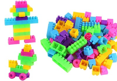 BOZICA NEW BEST QUALITY 100 Pcs/Set Infant Building Blocks Cube Wooden Squeeze Stack Block Baby Kids Educational Toys Children Gifts(Multicolor)