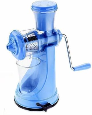 RSTC Plastic Hand Juicer MANUAL FRUIT JUICER BLUE COLOR PLASTIC BODY WITH STILL HANDLE(Blue Pack of 1)