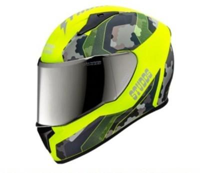 STUDDS Thunder D5-N5 Decor Motorsports Helmet(Green)