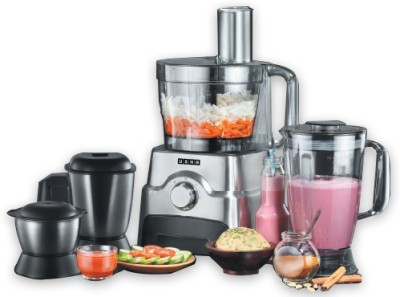 Usha FP 3811 1000 W Food Processor(Black, Silver)