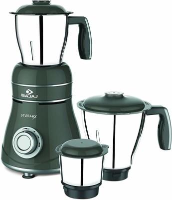 Bajaj Stormix 750 Mixer Grinder(Black & Silver, 3 Jars)