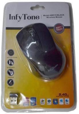 INFYTONE 04W019 Wireless Optical Mouse USB 2.0, Black