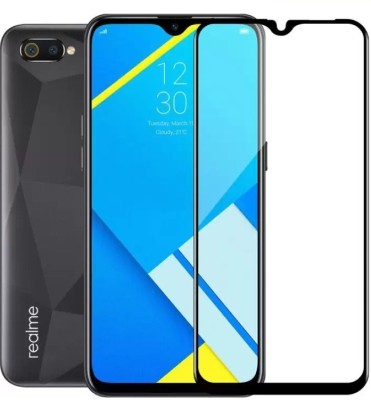 Black Arrow Edge To Edge Tempered Glass for Realme C2, OPPO A1k(Pack of 1)