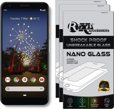 Roxel Nano Glass for Google Pixel 3a XL(Pack of 3)