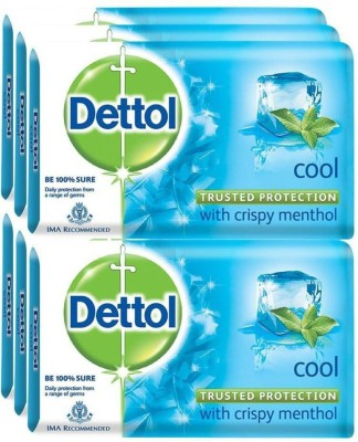 Dettol Bathing Bar Soap, Cool Epic (750 g, Pack of 6)(6 x 125 g)