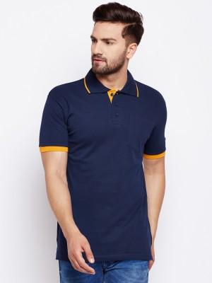 EPG Color block Men Polo Neck Dark Blue, Light Blue T-Shirt