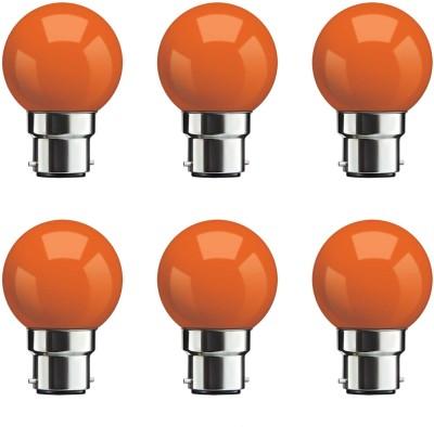 Syska 0.5 W Standard B22 Night Bulb(Orange, Pack of 6)