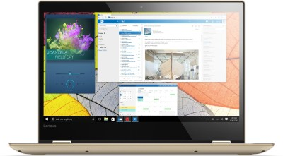 Lenovo Yoga 520 Core i3 8th Gen - (4 GB/1 TB HDD/Windows 10 Home) 520-14IKB 2 in 1 Laptop(14 inch, Gold Metallic, 1.7 kg, With MS Office)