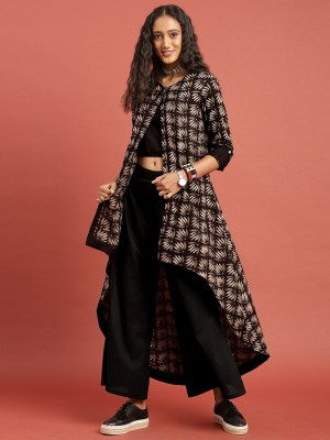 Taavi Women Ethnic Jacket, Blouse and Palazzo/Trouser Set