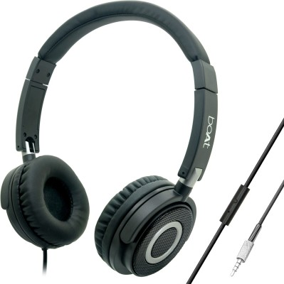 boAt BassHeads 900 Super Extra Bass Wired Headset with Mic(Carbon Black, Over the Ear)