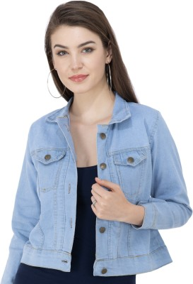 MONTREZ Full Sleeve Solid Women Denim Jacket