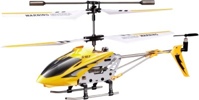SYMA Toyhouse Metal Helicopter 3 Channel Infrared Remote Control with Gyroscope and LED Lights for Indoor(Yellow) at flipkart