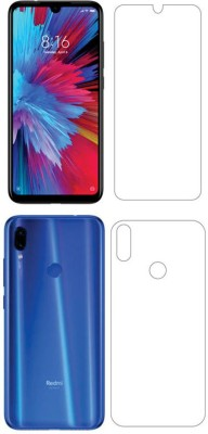 Screen O scratch Front and Back Screen Guard for Mi Redmi Note 7, Mi Redmi Note 7 Pro, Mi Redmi Note 7S(Pack of 2)