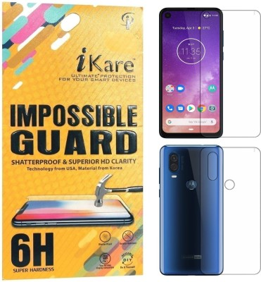 iKare Front and Back Screen Guard for Motorola One Vision(Pack of 2)