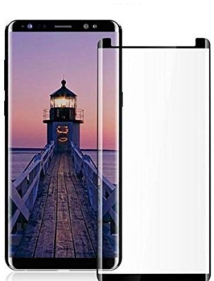 Covers Eclat Mobitech LLP Tempered Glass Guard for Samsung Galaxy Note 8 Full Glue Clear Transparent Edge to Edge 3D Curved Tempered Glass Screen Protector(Pack of 1)