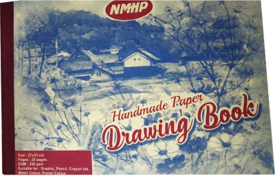 NMHP Handmade Drawing Book  White, 20 Sheets  Sketch Pad