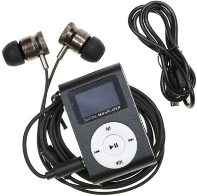 ulfat Digital MP3 Music Player with earphone 16  GB MP3 Player Black, 1 Display ulfat Media Players