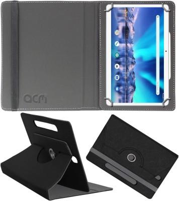 ACM Flip Cover for Lava Magnum Xl 10.1(Black, Cases with Holder)