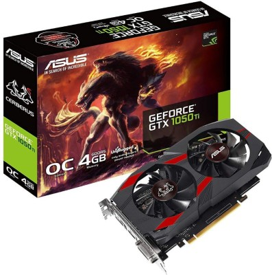 Asus NVIDIA Cerberus GeForce GTX 1050 Ti 4GB OC Edition GDDR5 Gaming Graphics Card (Cerberus-GTX1050Ti-O4G) 4 GB GDDR5 Graphics Card