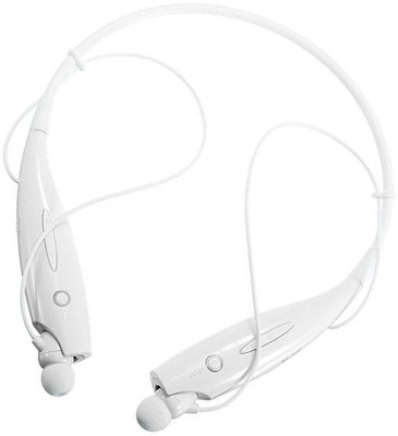 Aarzoomic Best HBS-730 Bluetooth Headset with Mic(White, In the Ear)