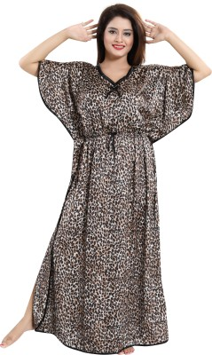 Fashigo Women Nighty(Black)