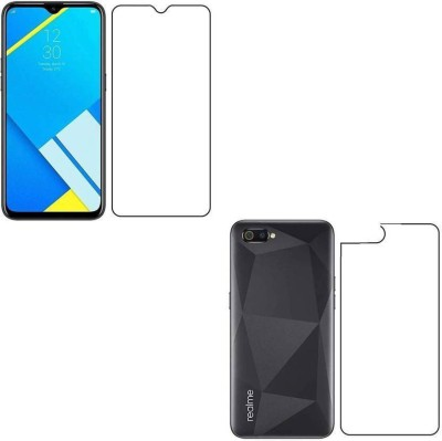 PR SMART Front and Back Tempered Glass for Realme C2, OPPO A1k(Pack of 2)