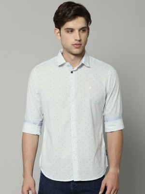 French Connection Men Printed Casual White Shirt