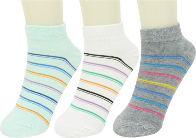 Neska Moda Women Striped Ankle Length(Pack of 3) at flipkart