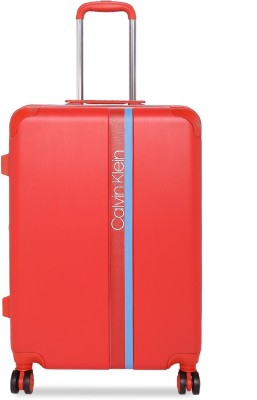 Calvin Klein Avenue Lanes Expandable  Check-in Luggage - 24 inch(Red) at flipkart